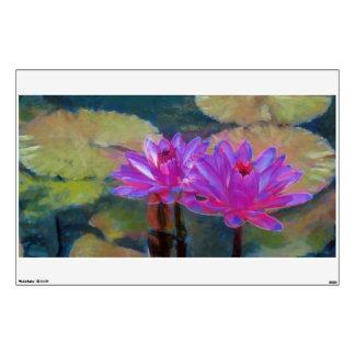 Blooming Lotus Flowers Wall Skins