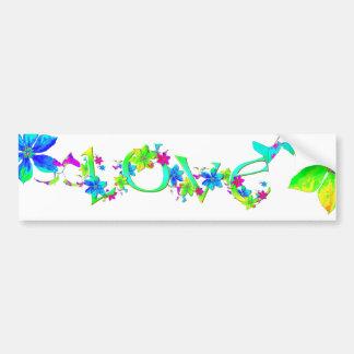 Blooming Love Bumper Sticker Car Bumper Sticker