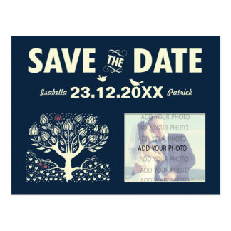 Blooming Love Tree wedding save the date ref.wi1 Postcard