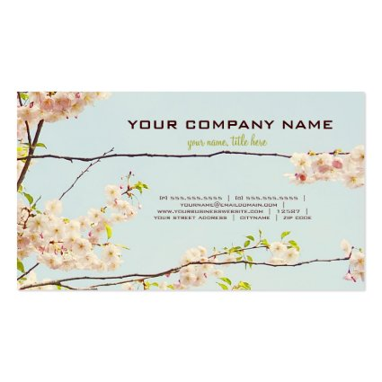 Blooming Nature Business Card Templates