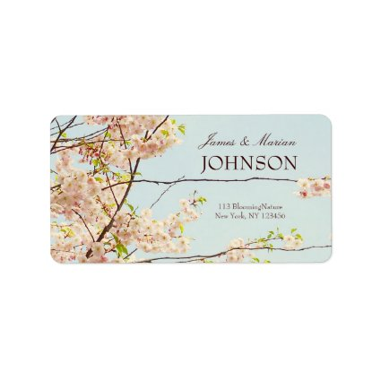 Blooming Nature Custom Address Label