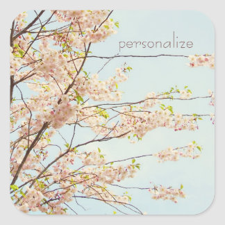 Blooming Nature Square Sticker