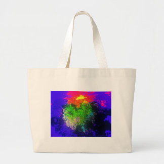 Blooming nebula canvas bags