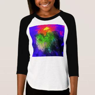 Blooming nebula Girls' 3/4 Sleeve T-Shirt