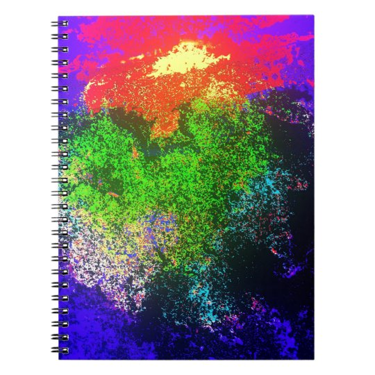 Blooming nebula spiral notebook