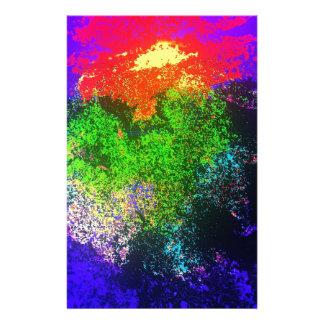 Blooming nebula stationery
