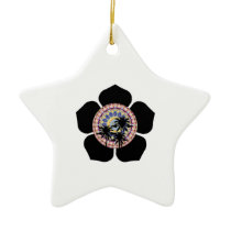 Blooming Palms Ceramic Ornament