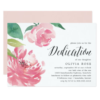 Baby dedication invitations announcements zazzle blooming peony baby dedication invitation stopboris Image collections
