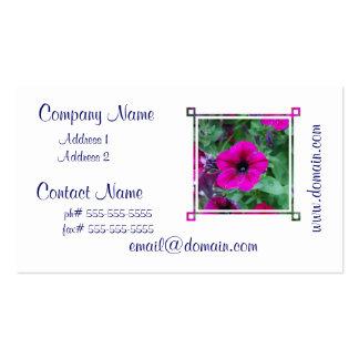 Blooming Petunia Business Card Template