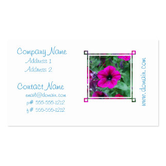 Blooming Petunia Business Cards