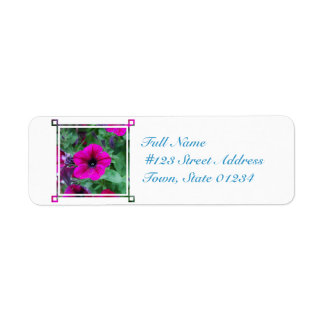 Blooming Petunia Return Address Label