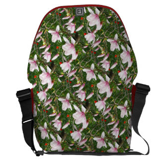 Blooming Pink Magnolia Messenger Bag