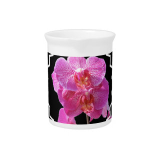Blooming Pink Orchids Pitcher