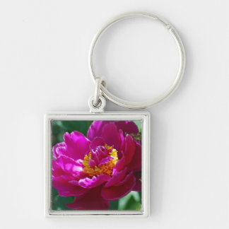 Blooming Pink Peony Key Chains