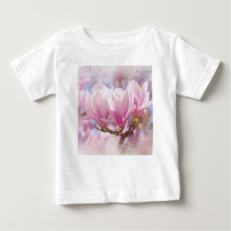 Blooming Pink Purple Magnolia - Spring Flower Baby T-Shirt
