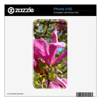 Blooming Purple Magnolia Skin For iPhone 4S