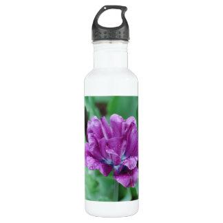 Blooming Purple Parrot Tulip 24oz Water Bottle