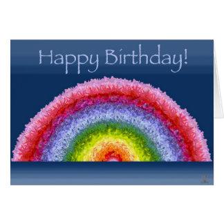 Blooming Rainbow birthday card
