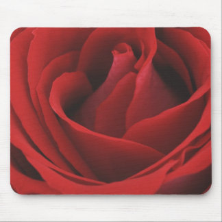 Blooming Red Rose Mouse Pad