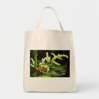 Blooming Rhubarb Flowers Grocery Bag