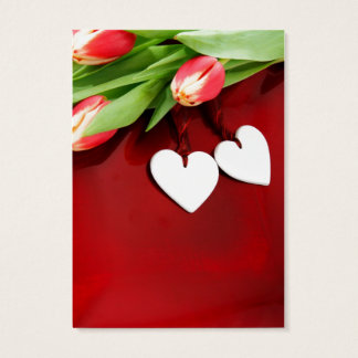 Blooming Romance Romantic Floral Hearts Business Card