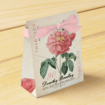 Blooming Rose 90th Birthday Thank You Favor Box