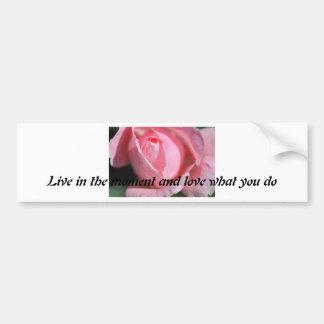 Blooming Rose Car Bumper Sticker