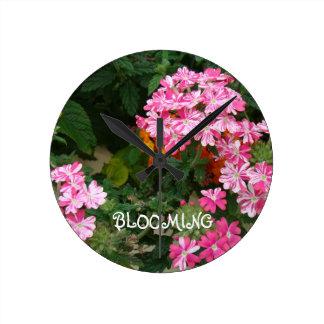 Blooming Round Clocks