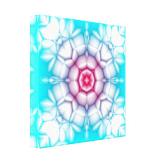 Blooming Spectrum Kaleidoscope Stretched Canvas Print