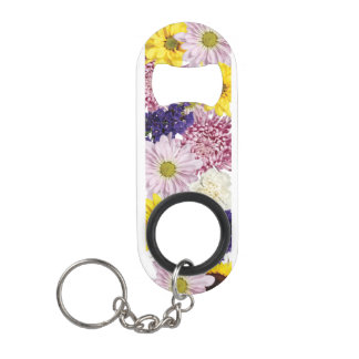 Blooming Spring Flowers Keychain Bottle Opener
