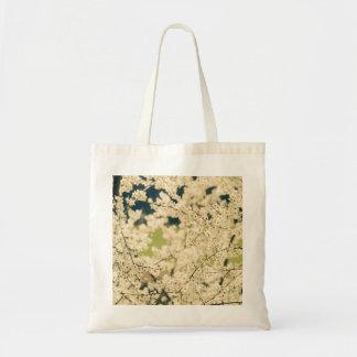 Blooming Spring Flowers on Trees Tote Bag
