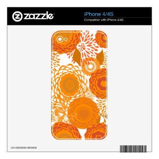 Blooming Spring Summer  Floral Design iPhone 4 Decal