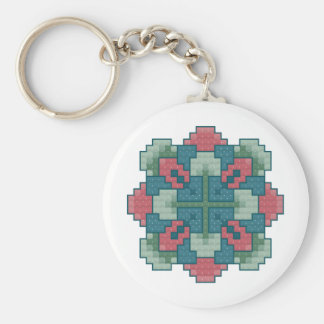 Blooming Square Keychain