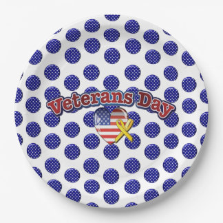 Blooming Stars Veterans Day Party Paper Plates