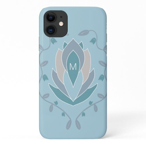 Blooming Succulent Monogram iPhone 11 Case