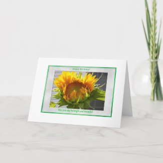 Blooming Sunflower Card