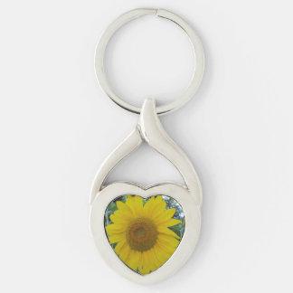 Blooming Sunflower Keychain