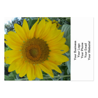 Blooming Sunflower Large Business Card