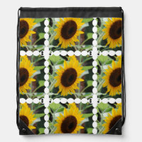 Blooming Sunflowers Cinch Bag