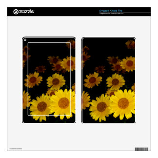 Blooming Sunflowers Decal For Kindle Fire