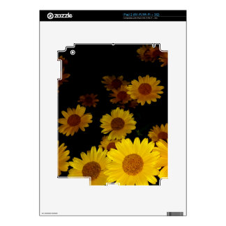 Blooming Sunflowers Decals For The iPad 2