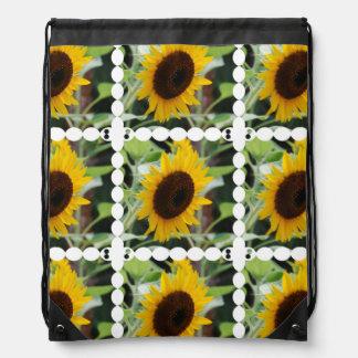 Blooming Sunflowers Drawstring Bag