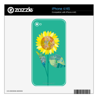 Blooming Sunflowers iPhone 4 Skins
