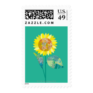 Blooming Sunflowers Stamp