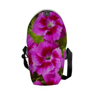 Blooming Sweet William Flowers Messenger Bag