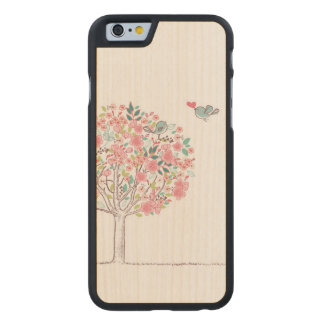 Blooming Tree and Birds in Love Carved® Maple iPhone 6 Case