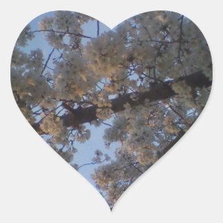 Blooming Tree Heart Sticker