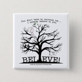 Blooming Tree Pinback Button