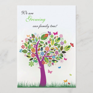 Pregnancy announcements zazzle blooming tree pregnancy announcement m4hsunfo