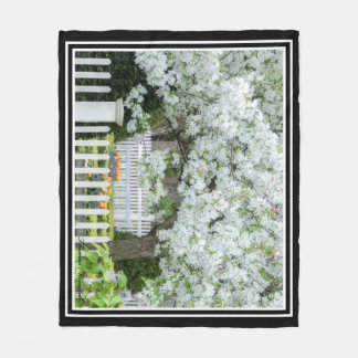 Blooming Trees Fleece Blanket By Thomas Minutolo